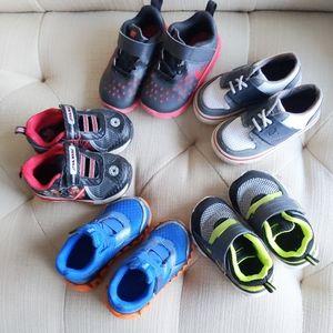 Size 6 toddler boy shoes Nike, Puma, Star Wars